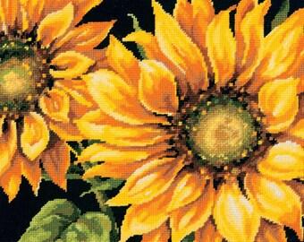 Dramatic Sunflower Needlepoint Kit