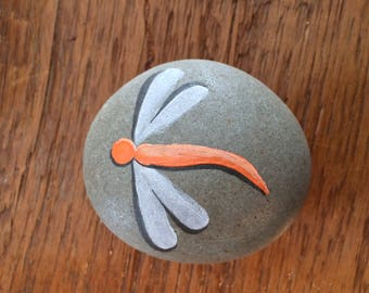 Hand Painted Dragonfly Stones