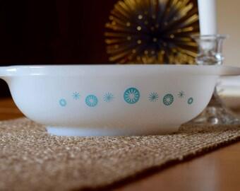 Vintage Glasbake Atomic Starburst Casserole Dish