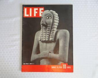 Vintage 1938 Life Magazine August 15 , High Priest - 3000 B.C.  - Home Decor
