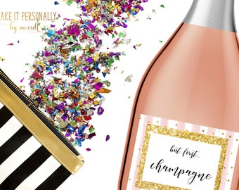 Will you be my bridesmaid box custom mini champagne labels Bridal Shower mini champagne labels, mini champagne labels