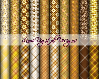 Collection 021 -  20 Digital Papers Pack