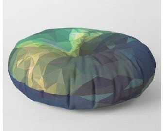 Round Floor Pillow Green Floor Pillow Galaxy Floor Cushion Space Floor Pillow Modern Square Floor Pillow Pouf Cover Poufs for Sitting