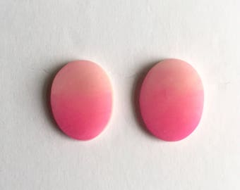Pink Watercolor Oval Studs