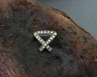 Aurora Borealis Brooch - Rhinestone Pin - Vintage - Retro - Mad Men Jewelry