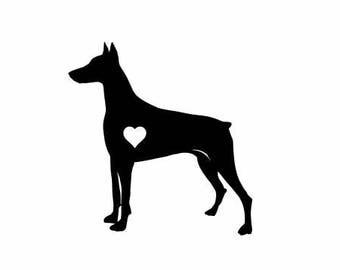 Doberman Pinscher Dog Vinyl Decal | Pets Dogs Decal  | Doberman Pinscher Dog Vinyl Decal  Doberman Pinscher Vinyl Decal Car Decal