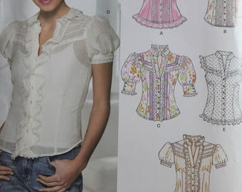 Victorian Look Blouse - New Look 6599 - Uncut - Sizes: 8-10-12-14-16-18