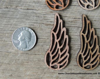 25 qty 2 inch Wood Angel Wings for crafts, embellishments, decor, woodcrafts, crafts, miniatures, fairy gardens, fairy wings, wooden wings