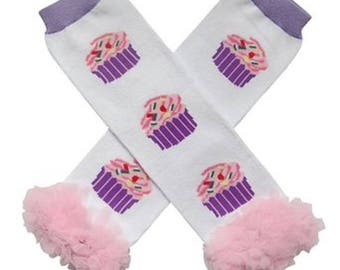 Birthday Cupcakes leg warmers - 1st Birthday outfit- Smash cake outfit- Photo prop- Baby Leg warmers