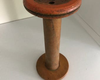 Large Antique Wooden Spool