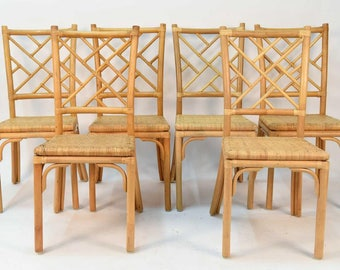 Vintage Bamboo Det of 6 Dining Chairs