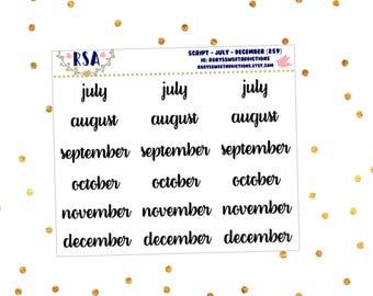 Script - July - December  {259}