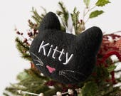 Personalized Cat Ornament, Personalized Cat Gift, Cat Xmas Ornaments, Cat Christmas Ornament, Customized Cat Ornament, Cat Lover Gift