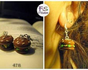 Hamburger earrings for.