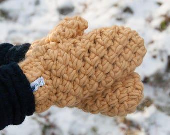 CROCHET PATTERN - Bulky Mittens Crochet Pattern - PDF Crochet Pattern