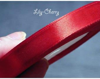 1 meter of Ribbon Red satin farting 12mm