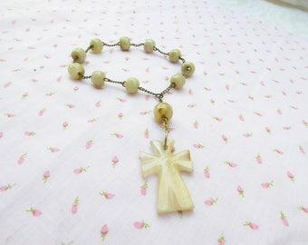 Gemstone Rosary / women's jewelry / women / teen Jewelry / Girls Jewelry / Catholic / Christian