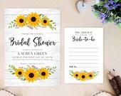 PRINTED sunflower bridal ...
