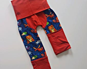 Wildlife bootie pants//Grow with me pants //Maxaloones