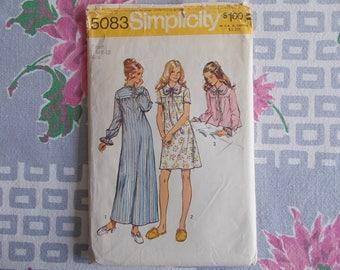 vintage women's nightgown pattern