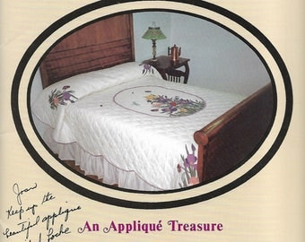 Iris In Bloom Pattern No. 101 An Applique Treasure Quilt Full Size Patterns for Quilt or Wall Hanging Sewing Pattern Booklet 1988 Uncut