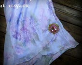 RESERVE Skirt, Upcyled, Handmade, Flowers, Romantic, Shabby Chic,  Accessories, Summer, Embellishments