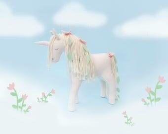 Magical Fairy Pony Horse Toy, felt animal, waldorf toy