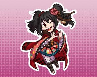 LLSIF Love Live School Idol Festival / School Idol Project - Nico Yazawa Taisho Roman Large Die Cut Vinyl Fan Art Sticker