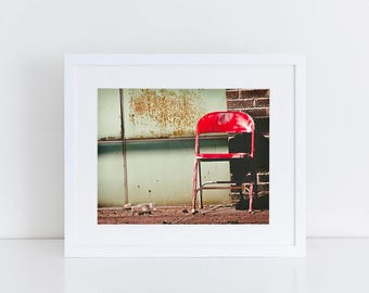 Red Chair - Urban Exploration - Fine Art Photography Print