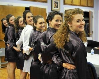 ON SALE Rhinestone Title Bridal Party Robe SET Of 5 Robes, Rhinestone Bride/Bridesmaid Robes- 5 Bridesmaids Robes. Bridesmaid Gifts or Weddi