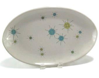 Vintage Franciscan Starburst Serving Platter * Atomic Age Dinnerware * Mid Century Dishes