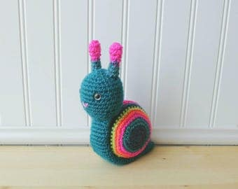 Snail Plush - Snail Amigurumi - Crochet Snail Plush - Gifts Under 20 - Baby Shower Gift - Toddler Toy - Toddler Gift - Unique Gift