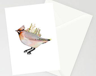 Waxwing A6 Greetings Card