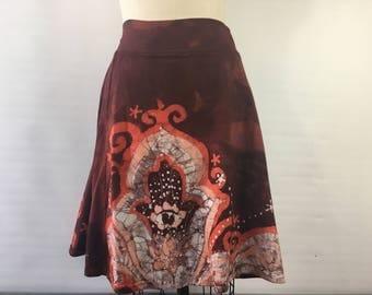 LARGE Hamsa batik skirt Hand dyed boho skirt