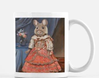 "Mouse, Big Mug, Cute Animal Mug Gift, Cute Animal Tea Mug, ""Miss Mousie"""