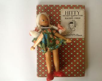 Hitty:  Her First Hundred Years, Rachel Field, HCDJ, Dorothy Lothrop, 1945, Woodcuts, Maine, Charming Doll Memoir, Mehitable, Phoebe