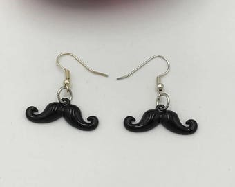 Mustache Earrings, Stache Earrings