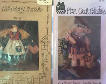 Lot of Bunny & Doll Patterns + Bunny Door Kit