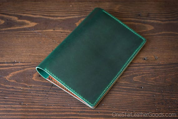 Hobonichi Cousin planner (fits other A5 notebooks) cover, + card pockets, Horween Chromexcel leather - green