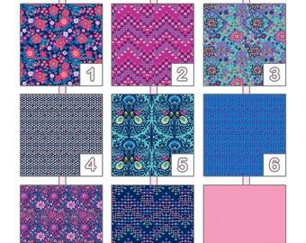 Decorative Throw Pillow Cover ... { Soul Mate } Amy Butler - Crisp Indigo Palette