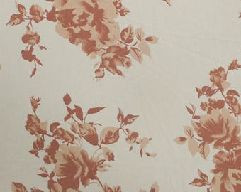 "OffWhite Rosegold 58"" Printed Crepe Chiffon Fabric by the Yard-Style P-114-586"