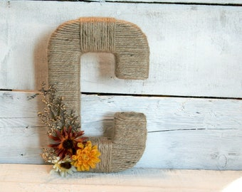 Yarn Wrapped Letter | Jute Wrapped Letter | Custom Wrapped Letter | Fall Letter | Wreath Letter | You Choose Your Letter(s)