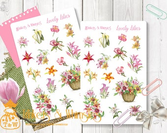 Lovely Lilies Planner Stickers