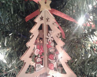 3D Christmas Tree Wooden Christmas Ornament
