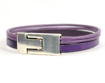 10% Off Light Purple Bracelet with Magnetic Toggle Clasp (C-500)