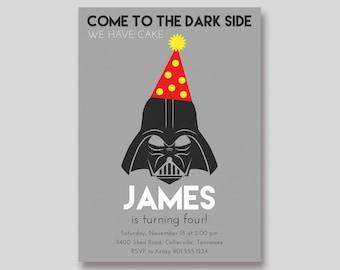 Darth Vader Star Wars Birthday Invitation - Custom DIY Printable