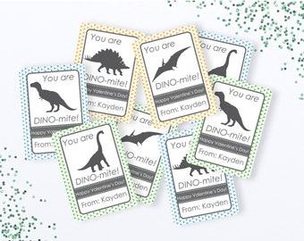 Instant Download, Dinosaur Valentine's, Dino Valentine, Printable Valentine, You're Dino-mite Valentine, Boy Valentine, Printable PDF