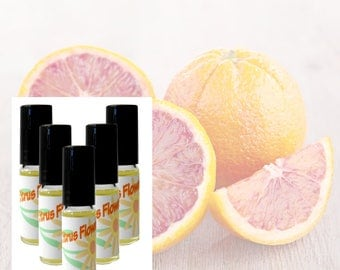 Citrus Flower | Handcrafted Perfume Oil | Natural | Roll-On | Purse Travel Size 5ml | Bath & Body