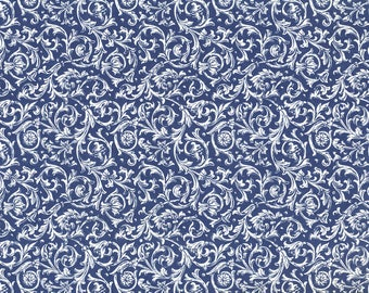 Traditional Carta Varese Cirrus blue - paper