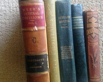 Genuine Antique Books for display